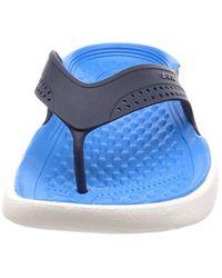 Crocs™ Blue Unisex Adults' Literide Flip Flat Sandal for men