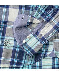 Marc O'polo Slim Fit Hemd Langarm Multikaro dunkelblau/hellblau 421/1484/42282/861 in Blue für Herren