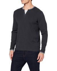 109ee2k008 T-Shirt À ches Longues Esprit pour homme en coloris Black