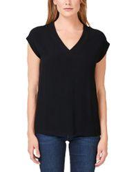 s.Oliver BLACK LABEL V-Neck-Shirt mit Blusenfront Black 34