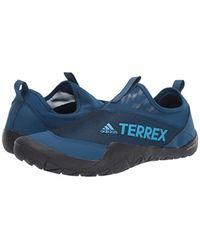 Adidas Outdoor Terrex Cc Jawpaw Ii Slip-on Legend Marine/shock Cyan/black 11 D Us for men