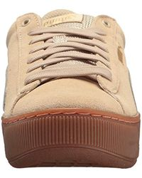 PUMA Brown Vikky Platform Sneaker