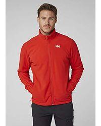 Daybreaker Fleece Jacket di Helly Hansen in Red da Uomo