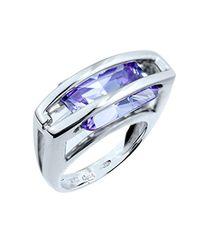 54 - Bague pour femme en argent sterling couleur argent, violet taille Guess en coloris Blue