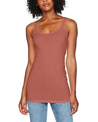 Vero Moda Pink Vmmaxi My Soft Long Tank Top Noos Vest