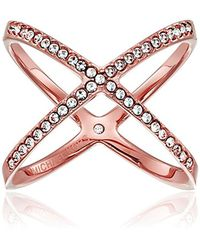 Michael Kors - Multicolor Pave X Ring - Lyst