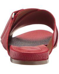 Calvin Klein Red Pamice Toe Ring Sandal