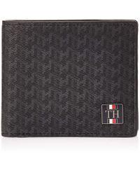 Tommy Hilfiger Black Am0am05054 Plaque Mono Wallet for men