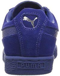 PUMA Wildleder, klassisch, einfarbig, Reptil-Design, Steel Gray Silver in Blue für Herren