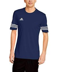 Adidas Blue S Entrada 14 Climalite Training T-shirt for men