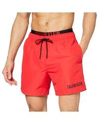 Calvin Klein Red Medium Double Wb Trunks for men