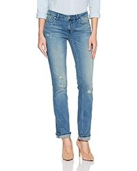 Calvin Klein Blue Jeans Straight Leg Denim Jean, Sand Storm, 27x32