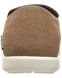 Santa Cruz 2 Luxe M, Mocasines para Hombre, Negro (Black/Charcoal), 46/47 EU Crocs™ de hombre de color Multicolor