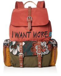 Desigual Red Backpack Rich Clementine Tribeca Size: One Size Color: Chestnut