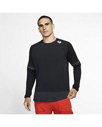 Nike Wild Run Long-sleeve Running Top Size M (black) for men