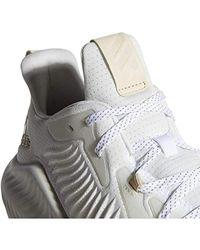 Adidas White Lite Racer Adapt Running Shoe for men