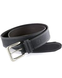 Timberland Black S 35mm Casual Belt Boot Cut Leather Rugged Classic Jean Belt for men