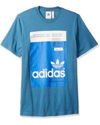 Adidas Originals Blue Pantone Tee for men