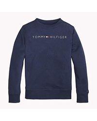 Essential Logo Sweatshirt, Sudadera Niños, Azul (Black Iris 002), 128 Tommy Hilfiger de hombre