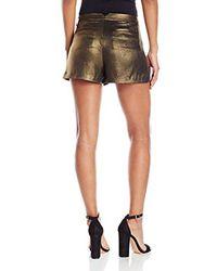 BCBGMAXAZRIA Black Camryn Metallic Short