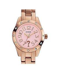 Montre - Quartz Analogique - Cadran Doré - Bracelet Acier Guess en coloris Pink