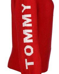 Tommy Hilfiger Red Logo Detail W Sweater