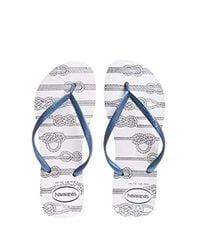 Havaianas Blue Slim Flip Flop Sandals, Nautical
