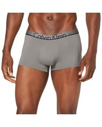 Low Rise Trunk Boxer di Calvin Klein in Gray da Uomo