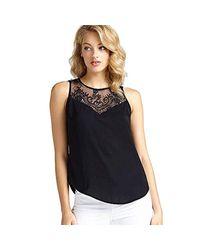 SL Scarlet Top Camiseta de Tirantes para Mujer Guess de color Black