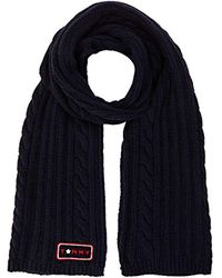 Tommy Hilfiger Blue Cable Mix Scarf