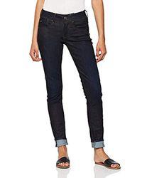 Lynn Mid-Waist Skinny Jeans di G-Star RAW in Blue