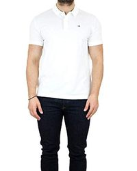Tommy Hilfiger White Dm0dm05508 Tommy Classic P Polo for men