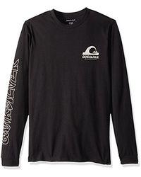 Quiksilver Black Quik International Ls Tee T-shirt for men