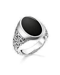 Thomas Sabo - Metallic Unisex Ring Schwarz 925er Sterlingsilber, Geschwärzt TR2242-698-11 for Men - Lyst