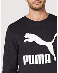 PUMA Classics Logo Crew Tr Sweatshirt in Black für Herren