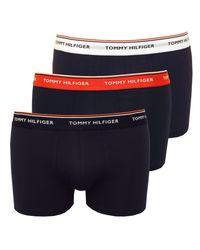 Troncs De Boxer Premium Pack De 3 éléments Essentiels Masculin Tommy Hilfiger pour homme en coloris Blue