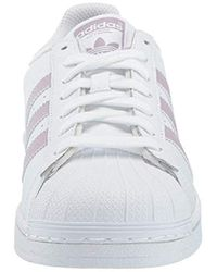 Adidas Originals Superstar Sneaker, White/soft Vision/core Black, 8