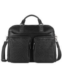Woven Weekender Bag di Bugatti in Black