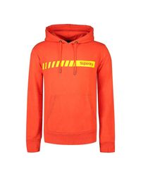 Core Logo Stripe Hood Sweat-Shirt Superdry pour homme en coloris Orange