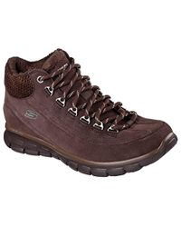 Skechers Synergy High Sneaker Brown