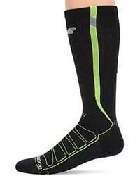 New Balance Black Reflective Compression Otc Socks 1 Pair for men