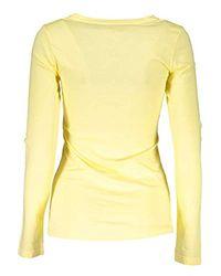 Liu Jo WXX017 J0231 T-Shirt Maniche Lunghe Donna di Liu Jo in Yellow