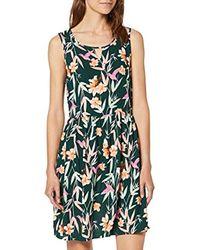 Vero Moda Green Vmsimply Easy Sl Short Dress