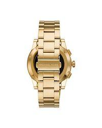 Michael Kors Metallic Goldtone Grayson Smartwatch for men
