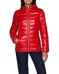 Donna Basic Quilted Hooded Giacca Maniche lunghe di Tommy Hilfiger in Red