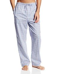 Nautica - Blue Woven Mini-plaid Pajama Pant for Men - Lyst