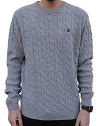 Merino Crew Sweater pour Gris 0A1XR8052 Timberland pour homme en coloris Gray