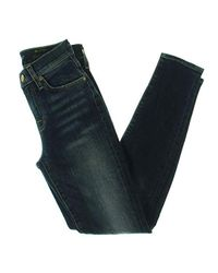 7 For All Mankind Blue Gwenevere Ankle Skinny Mid Rise Jean