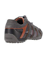 Geox Herren Uomo Snake A Sneaker in Gray für Herren
