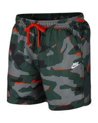 Nike Green M Nsw Ce Camo Short Wvn Trouser for men